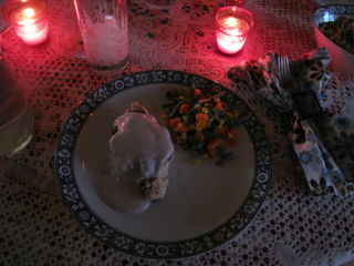 always eat dinner to candlelight
