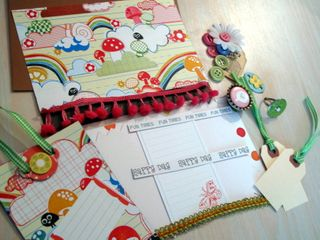 Whimsical Fun Mushroom Card and tag kit