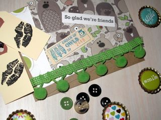 Owl and friends card kit