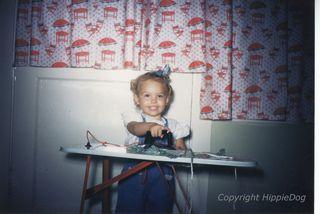 Cathy 1950's ironing......