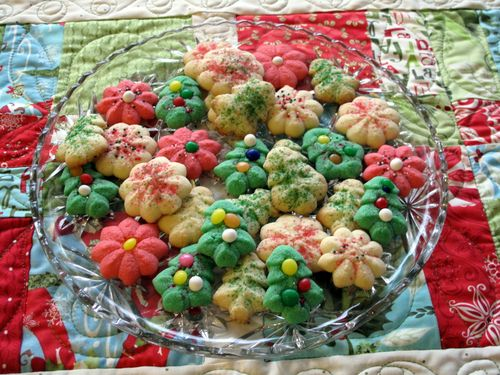 Butter Spritz Christmas Cookies