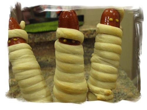 Halloween Hot Dog Mummies