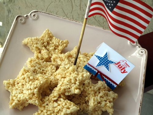 4th of July Rice Krispy Stars